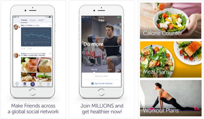 Argus Calorie Counter & Steps iPhone and iPad App Screenshot