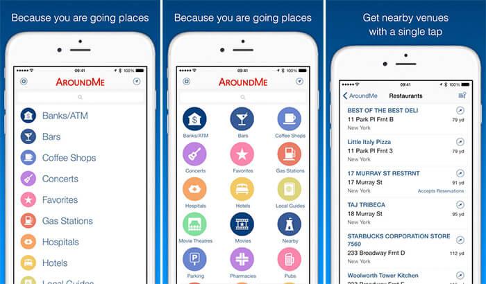 AroundMe iPhone and iPad App Screenshot