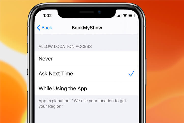 Ask Next Time Feature in iOS 13 Location Settings