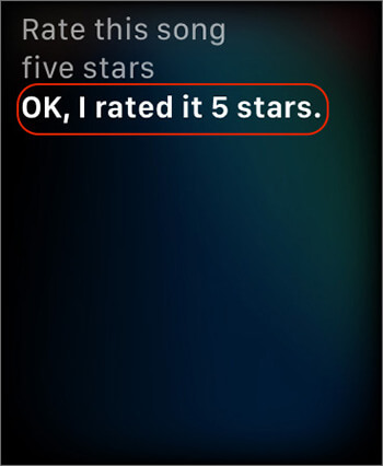 Ask Siri Rate Song with Stars in Apple Music on Apple Watch