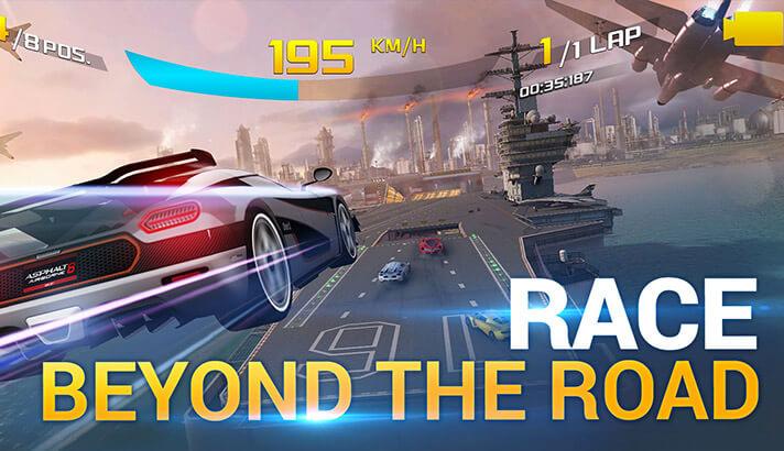 Asphalt 8 iPhone and iPad Racing Arcade Game Screenshot