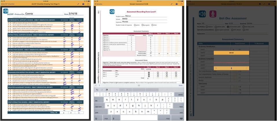 Assessment Plus iPhone and iPad App Screenshot