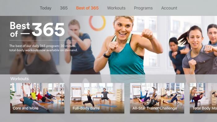 At Home Workouts Yoga App for Apple TV Screenshot