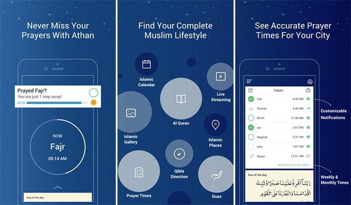 Athan Qibla iPhone and iPad App Screenshot