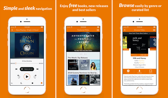 Audio Books iPhone and App Screenshot
