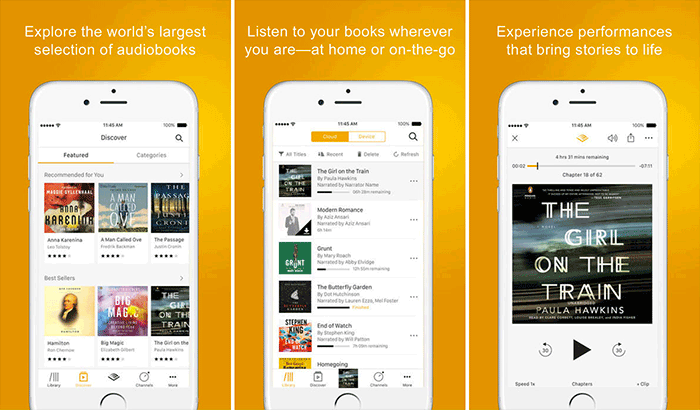 Audiobooks from Audible iPhone and iPad App Screenshot