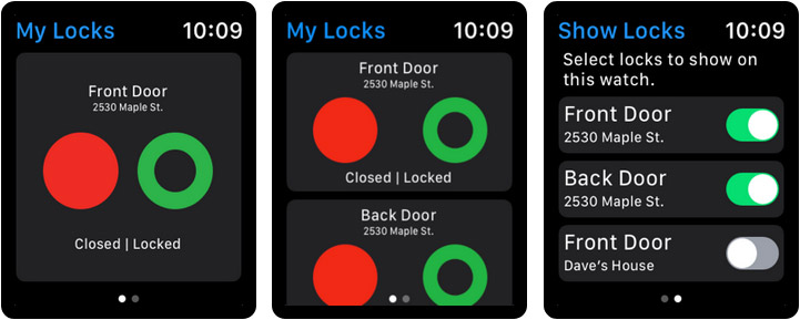 August Home Apple Watch Home Automation App Screenshot