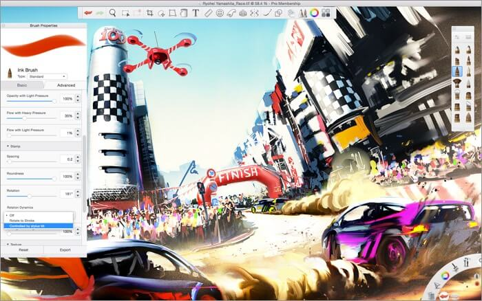 Autodesk SketchBook Mac Drawing App Screenshot