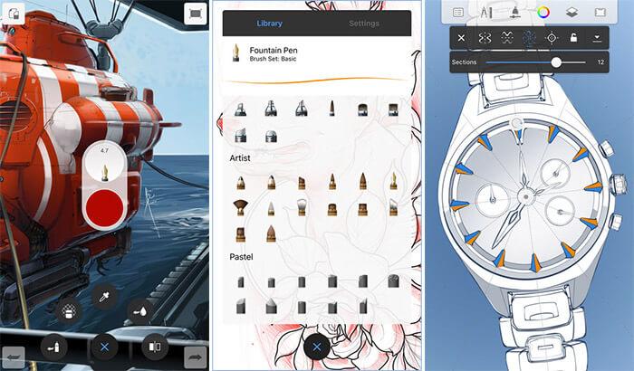 Autodesk SketchBook iPad Pro App Screenshot