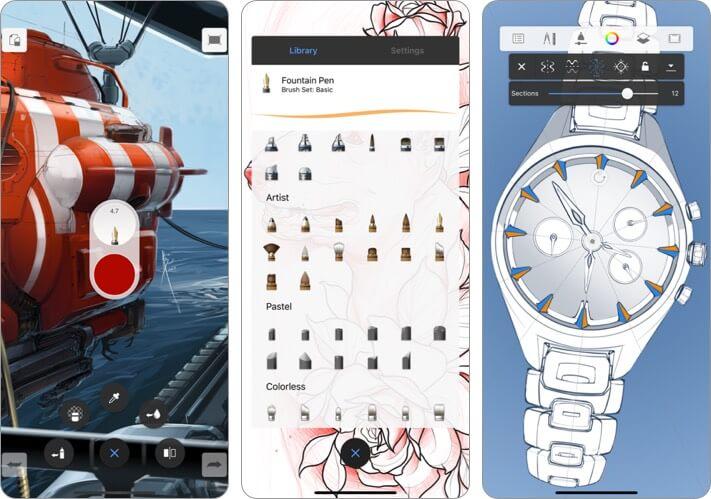 Autodesk Sketchbook Graphic Desing iPhone and iPad App Screenshot