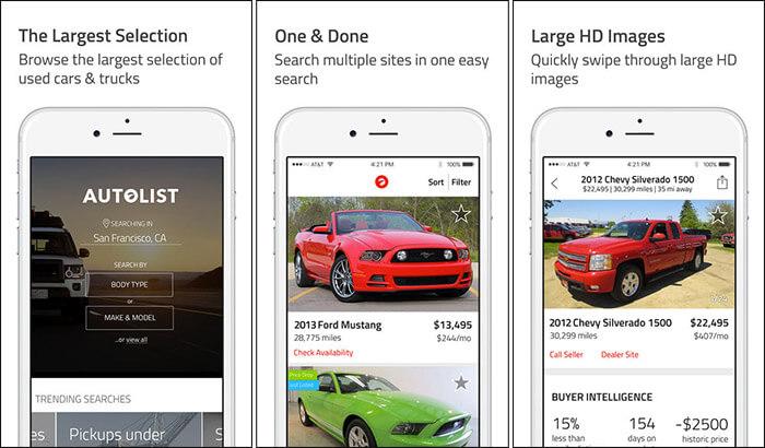Autolist iPhone and iPad Car Buying App Screenshot