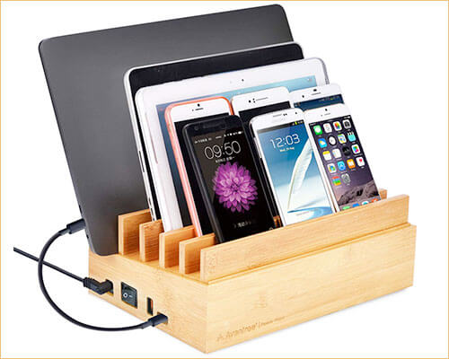 Avantree iPhone Xs Max, Xs, and iPhone XR Wooden Charging Stand