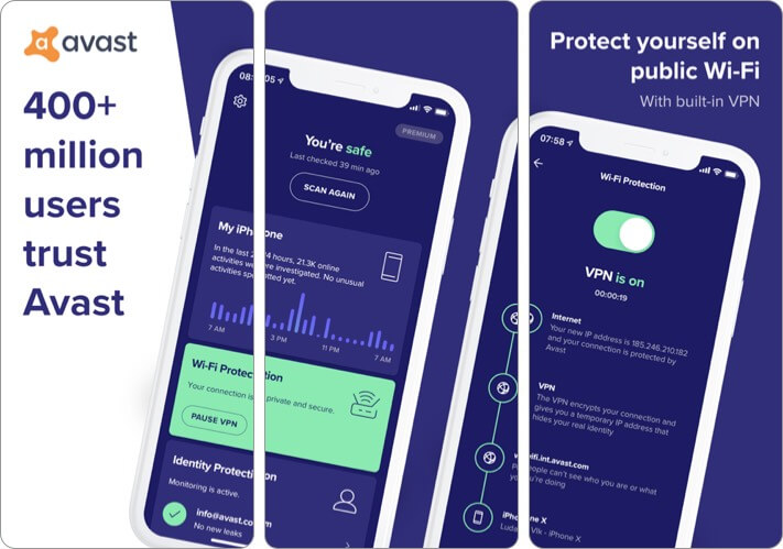 Avast Security Privacy iPhone and iPad App Screenshot