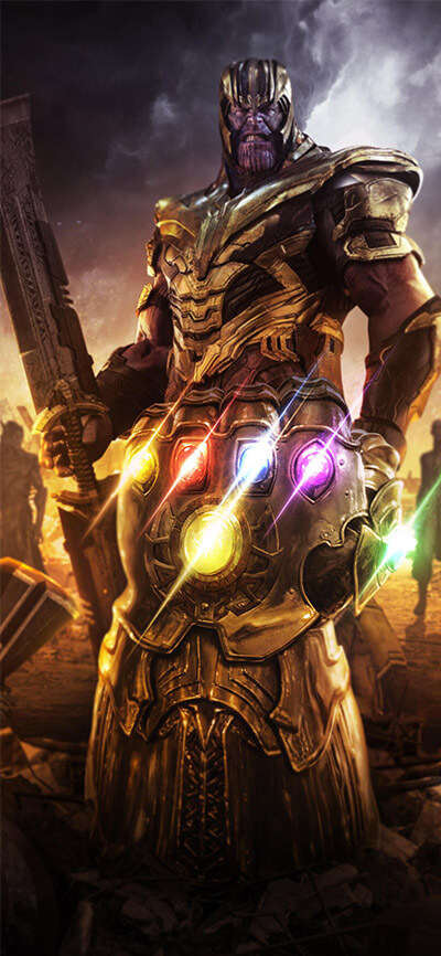 Avengers Endgame Thanos iPhone Wallpaper