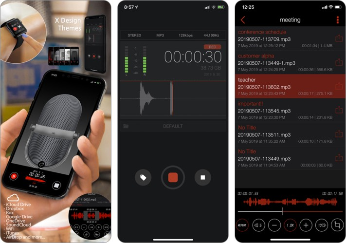 Awesome Voice Recorder iPhone and iPad App Screenshot
