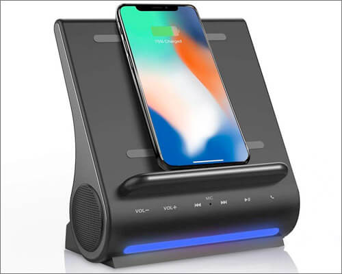 Azpen Dockall D100 Wireless Charging Dock with Speakers for iPhone X, 8, and iPhone 8 Plus