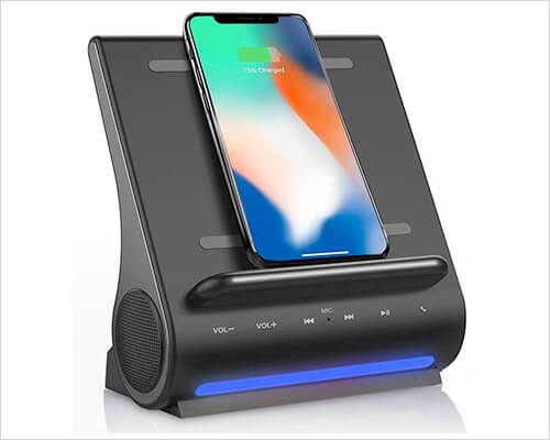 Azpen iPhone Xs Max, Xs, and iPhone XR Docking Station with Speakers