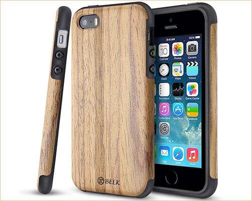 B BELK iPhone SE Wooden Case