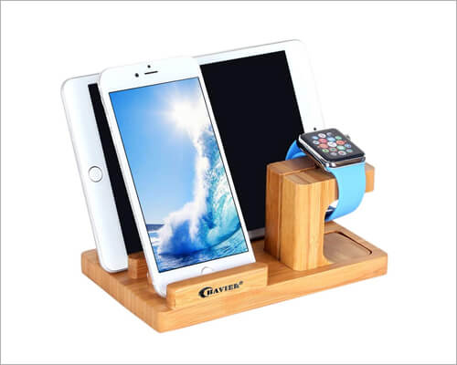 BAVIER iPhone 11, 11 Pro and 11 Pro Max Wooden Docking Station