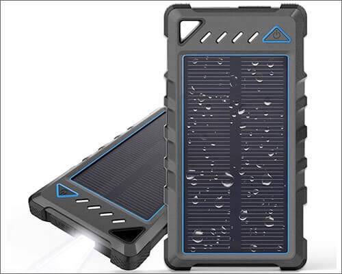 BEARTWO Solar Portable Charger for iPhone