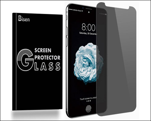 BISEN iPhone Xs Max Privacy Tempered Glass Screen Protector