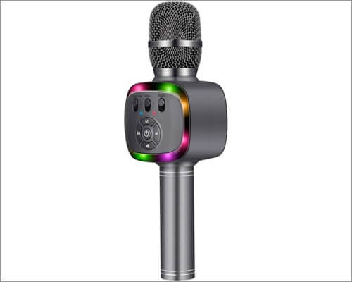 BONAOK Bluetooth Wireless Karaoke Microphone for iPhone