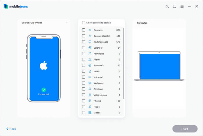 Back Up Your iPhone Data to Mac Using MobileTrans