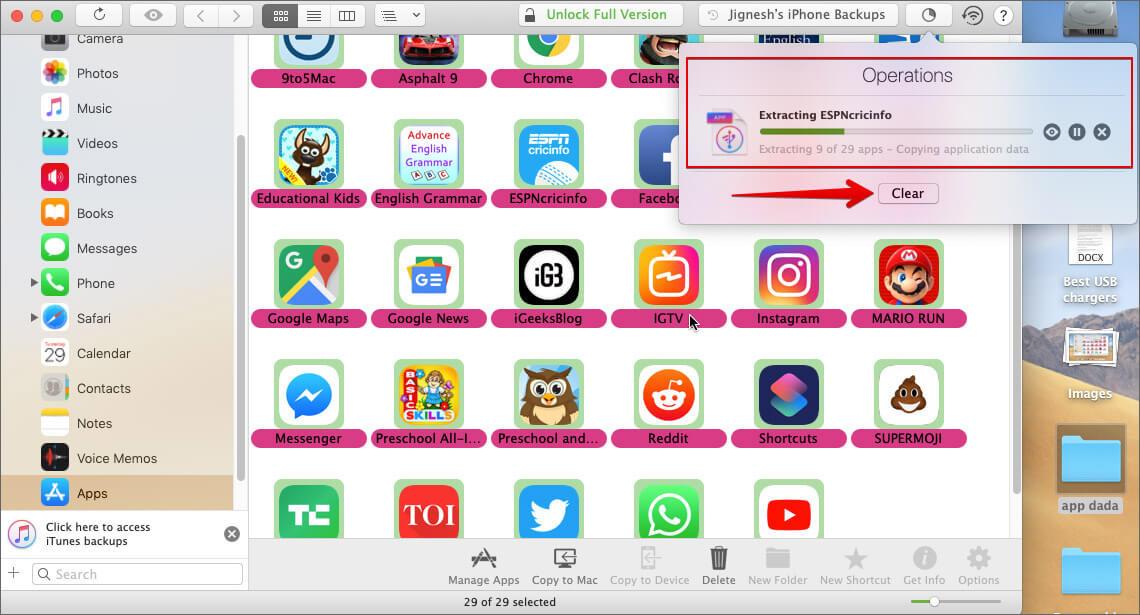 Back Up iPhone or iPad Apps on Mac UsingiMazing