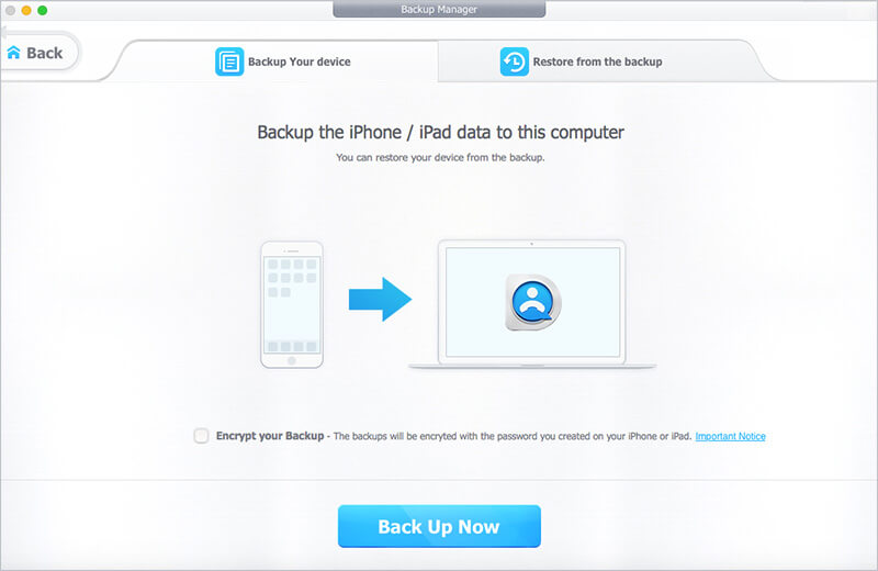 Back up Your iPhone using DearMob