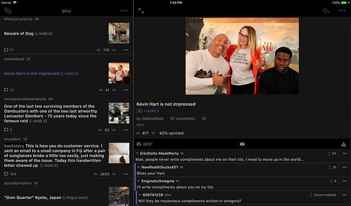 BaconReader for Reddit iPad App Screenshot