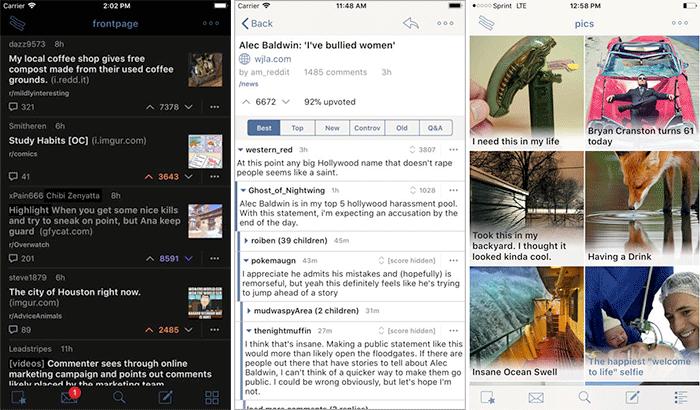 BaconReader for Reddit iPhone and iPad App Screenshot
