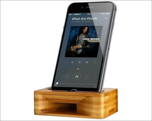 ARCHEER Bamboo Wood Charging Docks for iPhone SE 2020