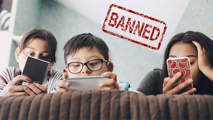 Bans Smartphones For Kids