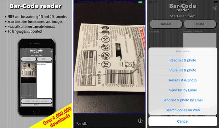 Bar-Code Barcode and QR Code Scanner iPhone App Screenshot