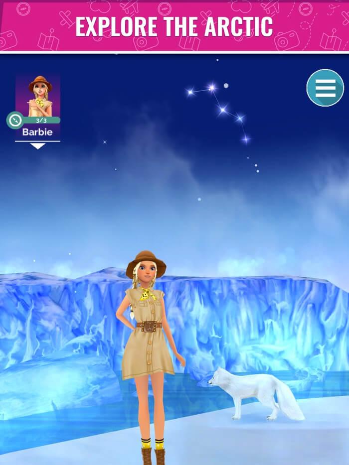 Barbie World Explorer iPhone and iPad Game Screenshot
