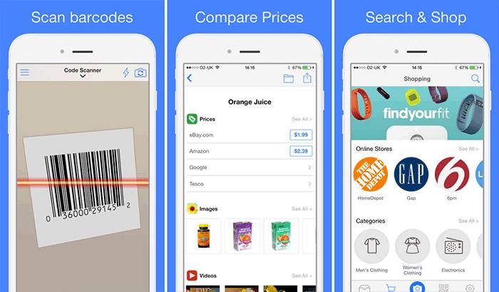Barcode Reader and QR Code Scanner iPhone App Screenshot