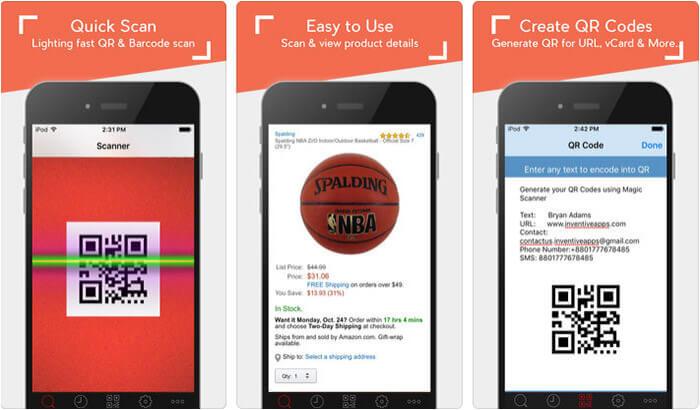 Barcode Scanner QR Code Reader iPhone and iPad App Screenshot