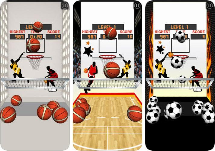 Basketball Arcade Machine iPhone and iPad Game Screenshot