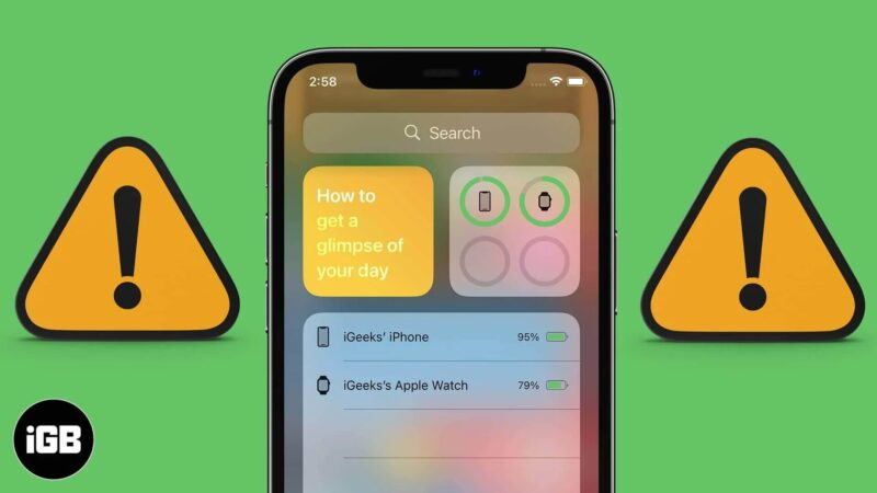 Battery Widget Missing on iPhone or iPad