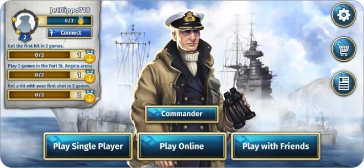 Battleship Game iPhone and iPad App Screenshot