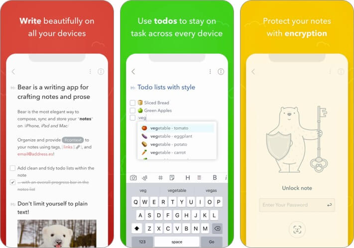 Bear text editor for iPhone and iPad screenshot