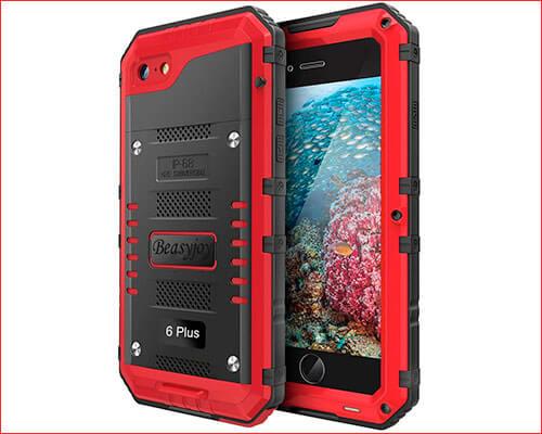 Beasyjoy Waterproof Case for iPhone 6-6s Plus