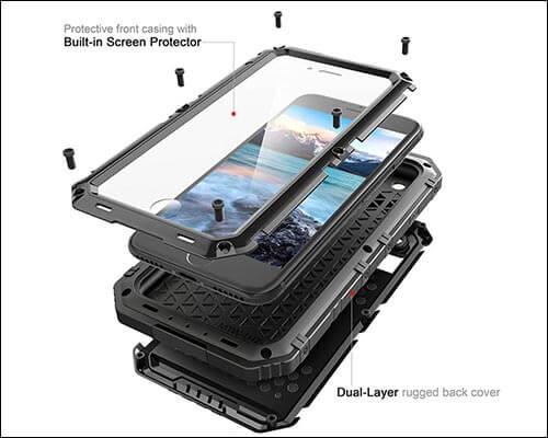 Beasyjoy Waterproof Case for iPhone 8 Plus