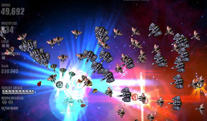 Beat Hazard Ultra Space Shooter iPhone and iPad Game Screenshot
