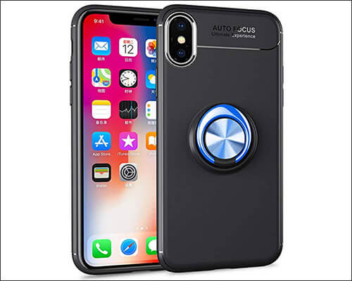 BeautyWill Ring Holder Case for iPhone Xs Max