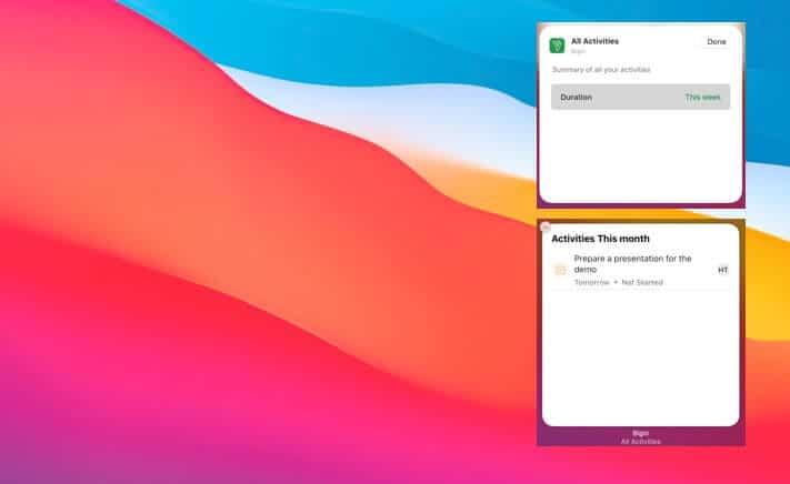 Begin Widget for macOS