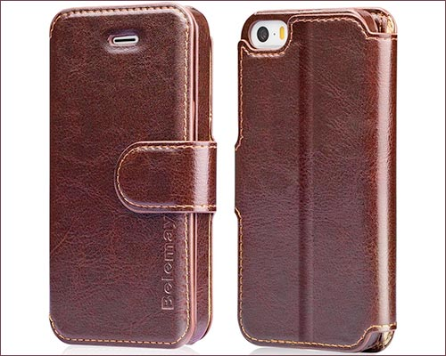 Belemay Leather Case for iPhone 5s, and SE