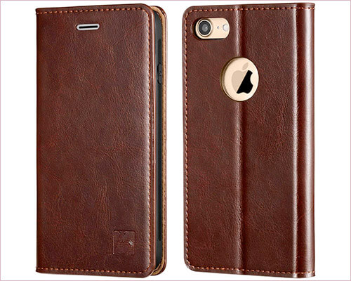 Belemay iPhone 8 Leather Wallet Case