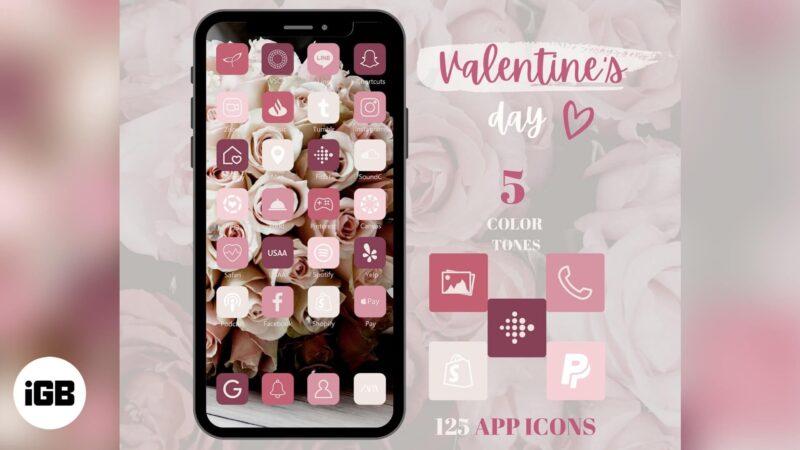 Best Valentines Day iOS 14 app icon packs