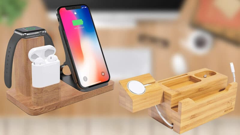 Best iPhone Xs Max, Xs, and iPhone XR Wooden Docking Stations